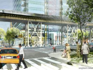 An artist's rendering of the new 129th street (Photo courtesy of Columbia)