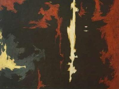 """1949-A-No.1"" (1949) by Clyfford Still. (Courtesy Sotheby's)"