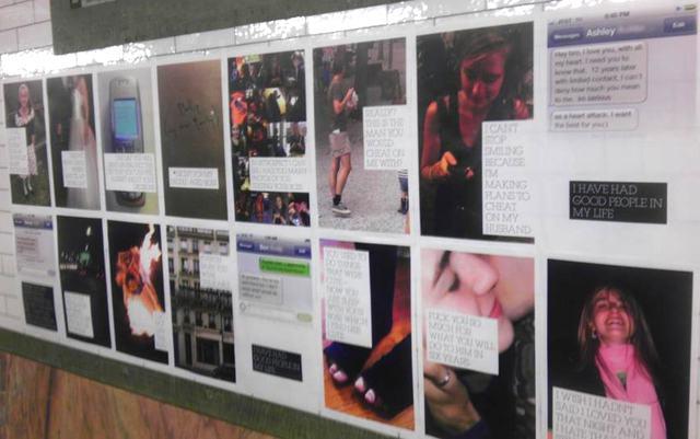 Vengeful Art or Viral Marketing Campaign? Cheater's iPhone Message Plastered on Subway Platform