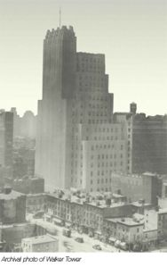 Archival photo of Walker Tower (Photo from CORE blog)