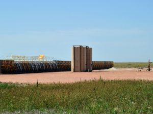 An oil well site near Tioga, North Dakota. ()