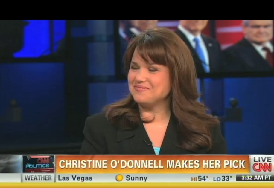 "Christine O'Donnell's Underminey Support of Mitt Romney: ""He's Been Consistent Since He Changed His Mind"" (Video)"