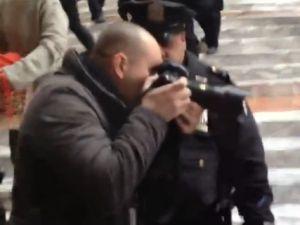 Robert Stolarik and the cop who blocked him