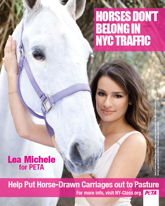 Lea Michele Will Leave New York If We Don't Ban Horse & Carriage Rides