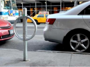 From parking meters to bike parking. (NYC DOT)