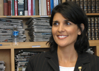 South Carolina Governor Nikki Haley Vets Stephen Colbert for Senate Seat