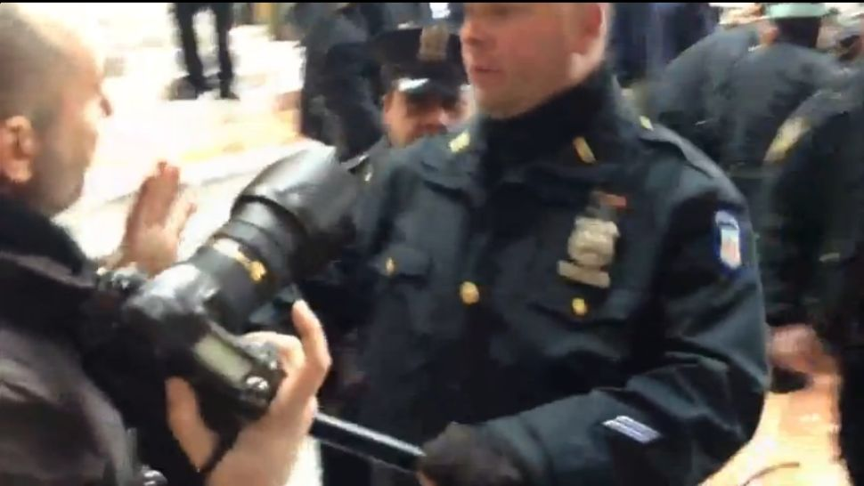 'New York Times' Credentialed Reporters Still Being Blocked From Covering Occupy Arrests (Video)
