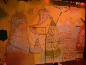 Thomas Campbell's mural at Max Fish.