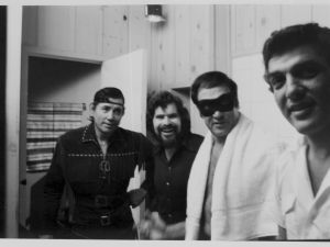Don Blauweiss, second from left, and Sid Meyers, far right.