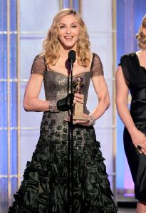 "Golden Globe-winner Madonna, singer of ""American Life."" (Getty Images)"