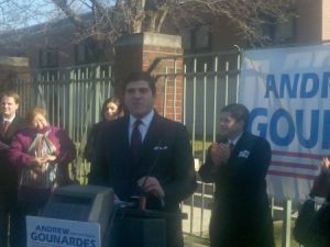 Andrew Gounardes announces his campaign