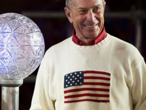 Mayor Michael Bloomberg greets 2012 with a smile. (Getty)