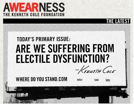 Kenneth Cole Premieres 'Electile Dysfunction' Billboard on West Side Highway