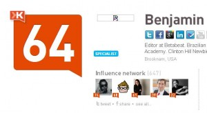 Outting Ben's Klout score instead of our own.