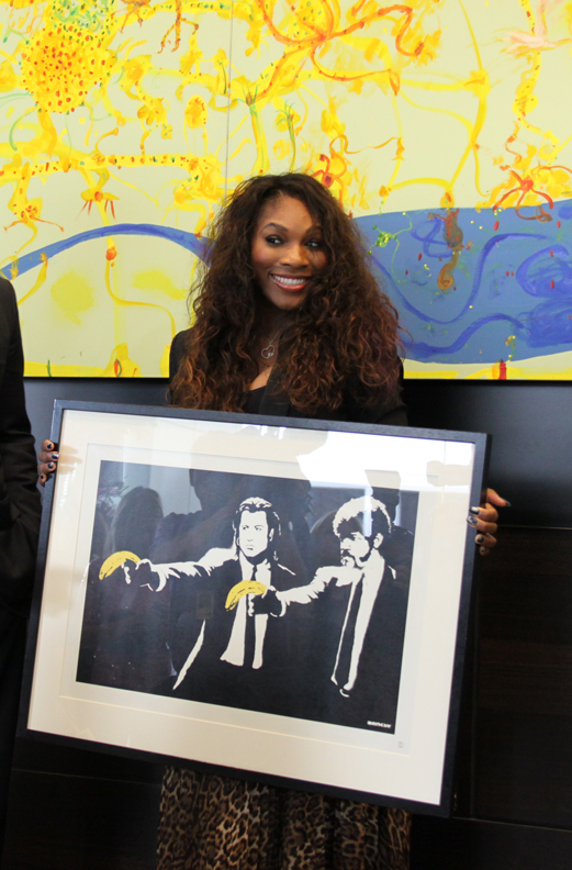 Serena Williams Attempts to Steal Banksy Art From Melbourne Hotel
