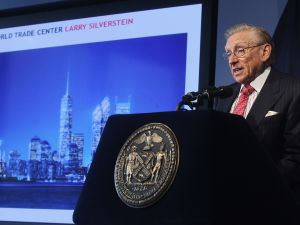 Larry Silverstein Hosting an Update on WTC last September (photo courtesy of Getty Images)