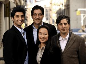 ZocDoc team Nick Ganju (CTO), Cyrus Massoumi (CEO), Netta Samroengraja (CFO) and Oliver Kharraz (COO).