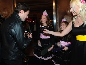 Daniel Radcliffe, picking up chicks (Getty Images)