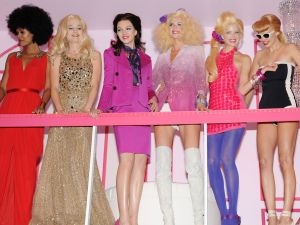 Life-sized Barbies at Lincoln Center's party (Patrick McMullan)