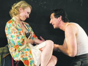 Goldberg and Adam Driver not all that sure what they're talking about. (Roundabout Theatre Company)