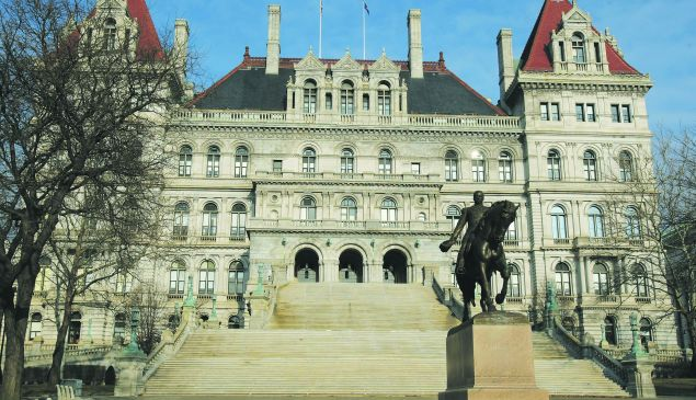 The State Capitol in Albany. (Photo by Daniel Barry/Getty Images)