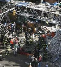 Wreckage from Upper East Side Crane Collapse.