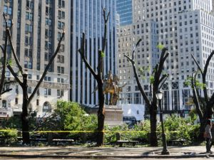Storm damage in Grand Army Plaza. (CP Conservancy)