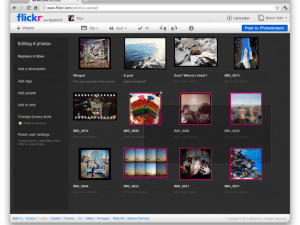 Flickr's upload page, slated to roll out 2/28/2012.