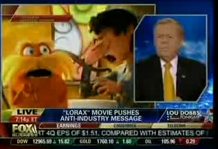 Lou Dobbs and Fox Business Network: The Lorax and Borrowers Adaptation Promoting Liberal, Anti-Industry Agenda (Video)