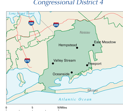 New York 4th Congressional District, currently represented by Carolyn McCarthy. (Photo: Wikimedia)