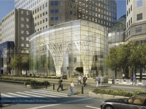 A Rendering of the new Glass Pavilion at The Winter Garden (courtesy of Brookfield Properties)