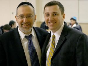 Rabbi Aryeh Katzin, one of Lew Fidler's backers, and his GOP opponent David Storobin (Photo: Facebook)