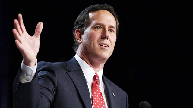 Occupiers Disrupt Rick Santorum Speech In Washington State