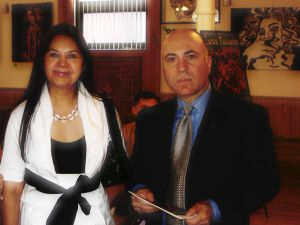 Glafira Rosales with her lawyer. Courtesy the New York Times.