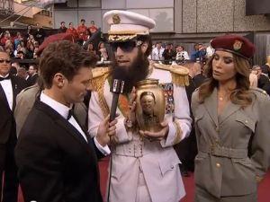 Admiral Aladeen (Sacha Baron Cohen) on the red carpet