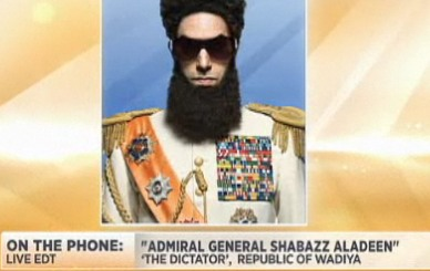 Hype Job of the Century?: Sacha Baron Cohen's Character From The Dictator Responds to Oscar Ban (Video)