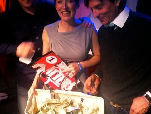 Sharon Schneider, founder of Good Karma with Common cofounder Alex Bogusky and a big ol' bag of cash.