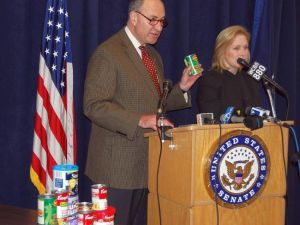 Senator Schumer prefers his vegetables canned. (Epoch Times)