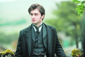 Radcliffe sans lightening bolt scar, recently introduced to hair product.