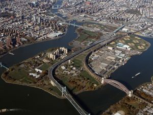 Randall's Island from above. (Photo by Bruce Bennett/Getty Images)