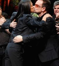Julie Taymor and Bono (Getty Images)