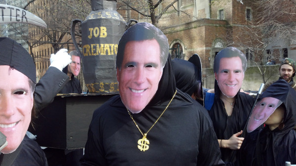 Occupy Wall Street Protests Mitt Romney at The Waldorf Astoria