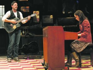 Steve Kazee and Cristin Milioti in 'Once.' (Photo by Joan Marcus)