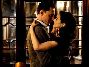 Hiddleston and Weisz in an extramarital embrace.