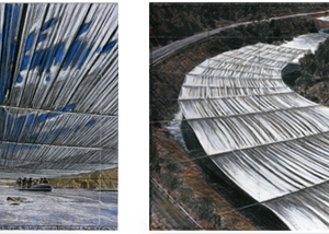 Drawings by Christo for 'Over the River.' (Photo by Wolfgang Volz)