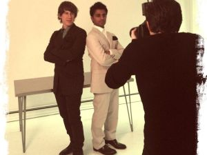 Mr. Crowley and Mr. Selvadurai at a photo shoot for Italian Vogue. (Based on a photo by flickr.com/dpstyles)