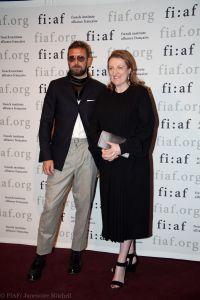 The designer with Glenda Bailey.