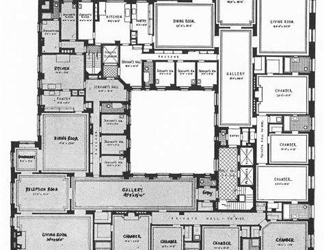 An original floorplan—so much space!