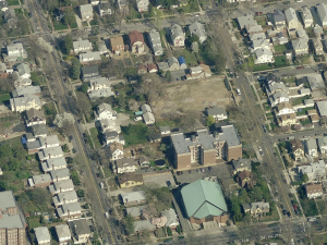 A holy site? LDS planning church on empty lot. (Bing Maps)