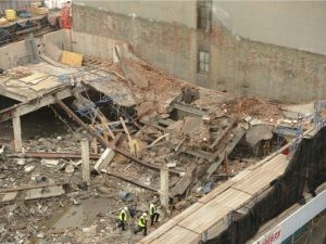 The collapsed structure. (DNAinfo)